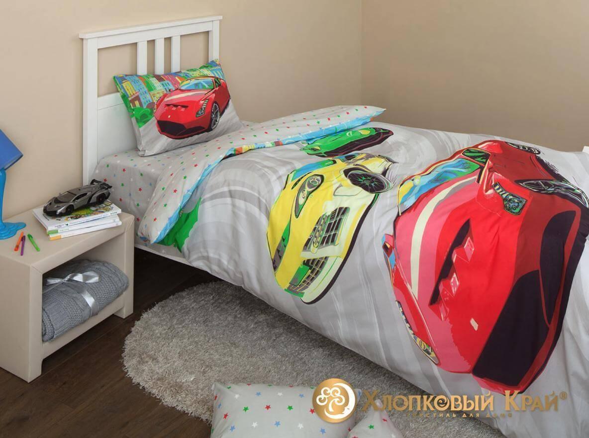 Детское постельное белье Хлопковый край Тачки - Detskoye-Postelnoe.Ru