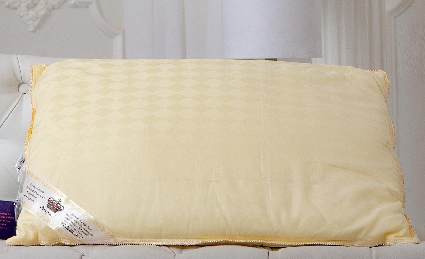 Шелковая подушка Kingsilk Elisabeth Элит 50х70 (1.2 кг) - Detskoye-Postelnoe.Ru