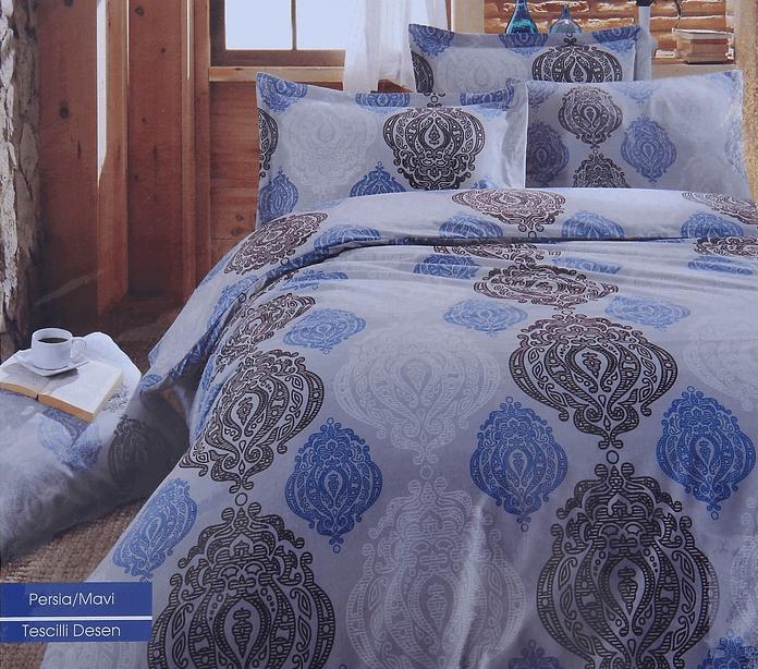 Постельное белье Cotton Life Persia (70х70 см), голубой - Петербург