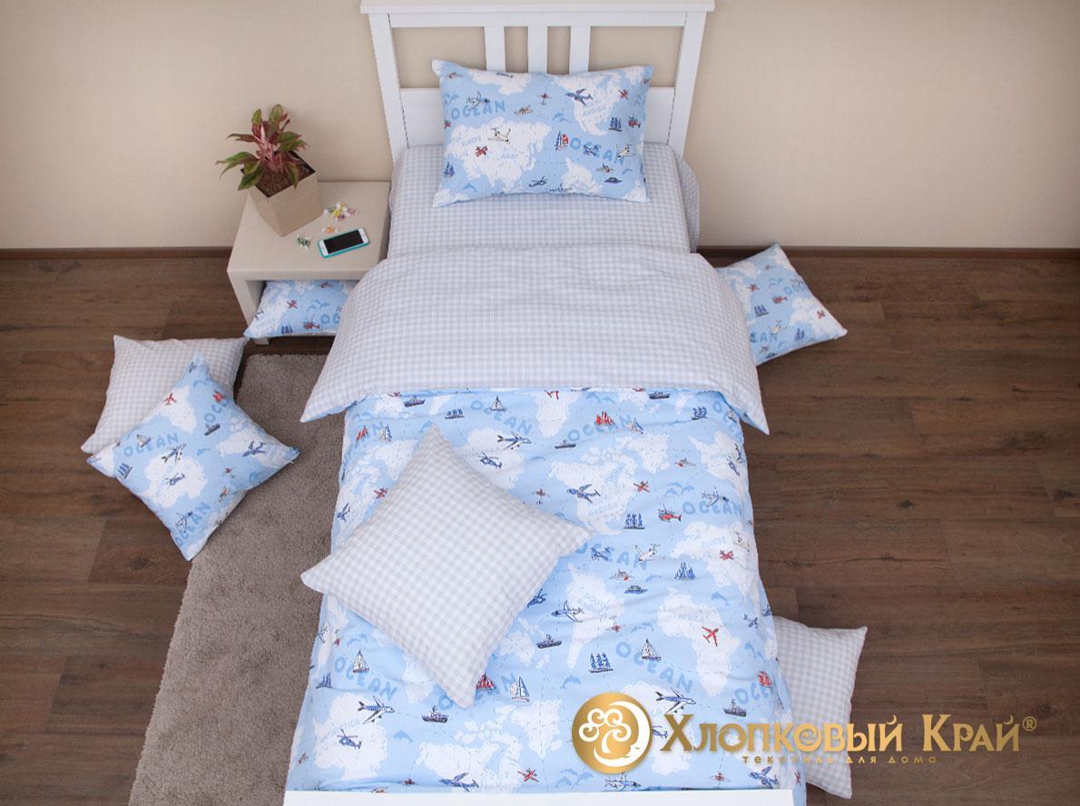 Детское постельное белье Хлопковый Avventura blue - Detskoye-Postelnoe.Ru