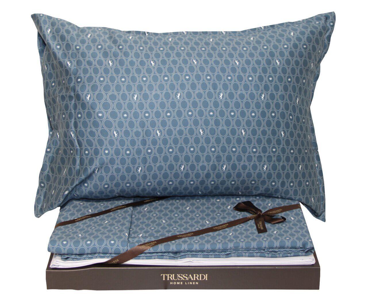 Постельное белье Trussardi Royal Grey Hound blu - Петербург