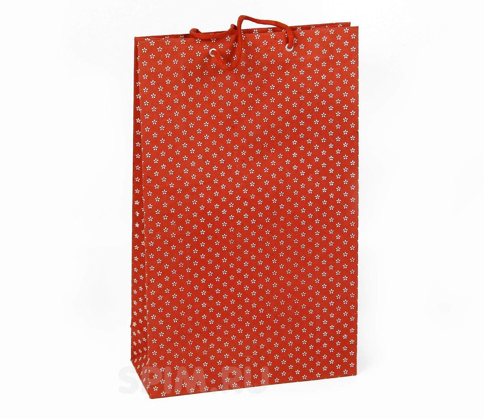 Высокий подарочный пакет Цветочные мотивы - Detskoye-Postelnoe.Ru