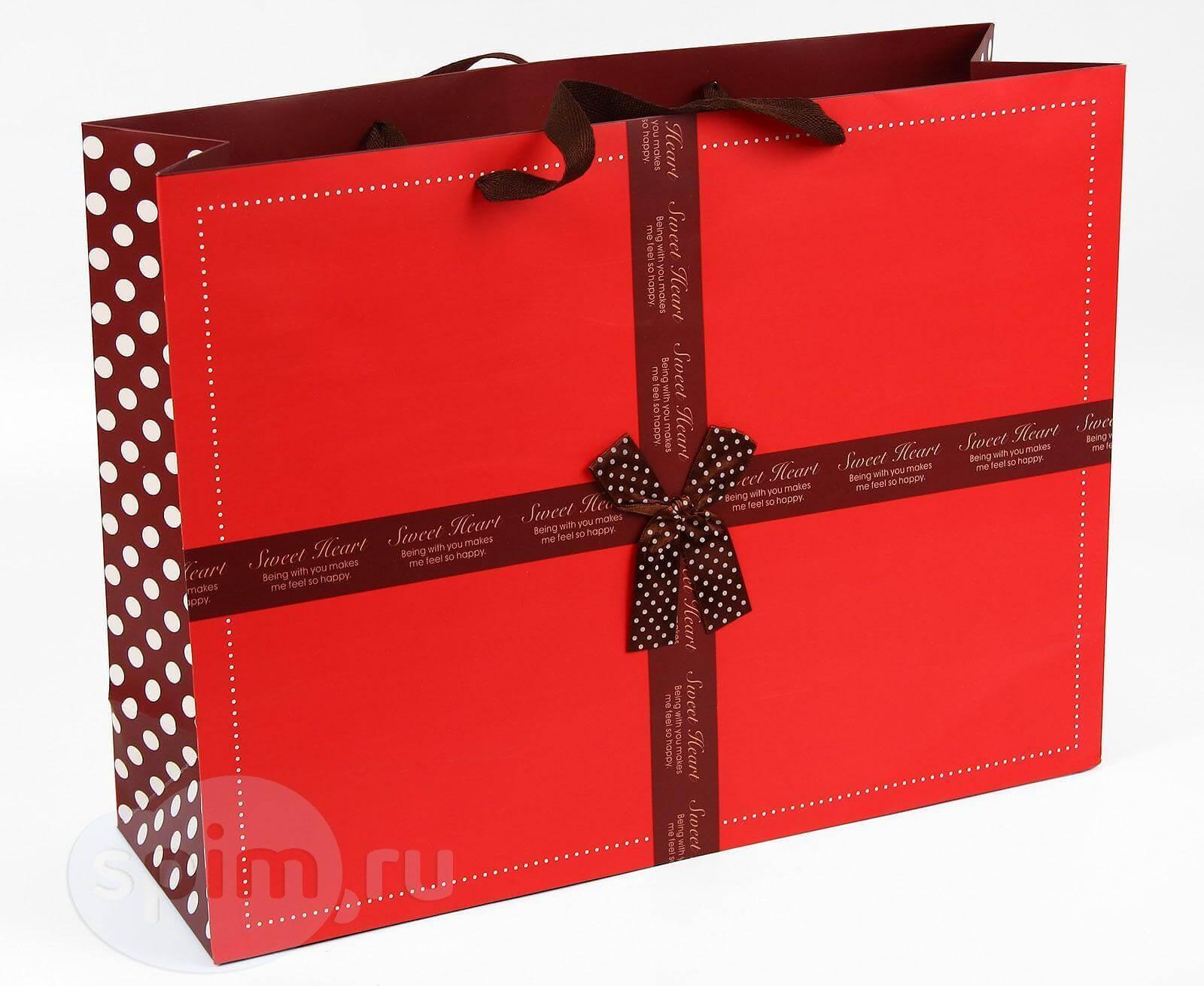 Широкий подарочный пакет Sweet Heart - Detskoye-Postelnoe.Ru
