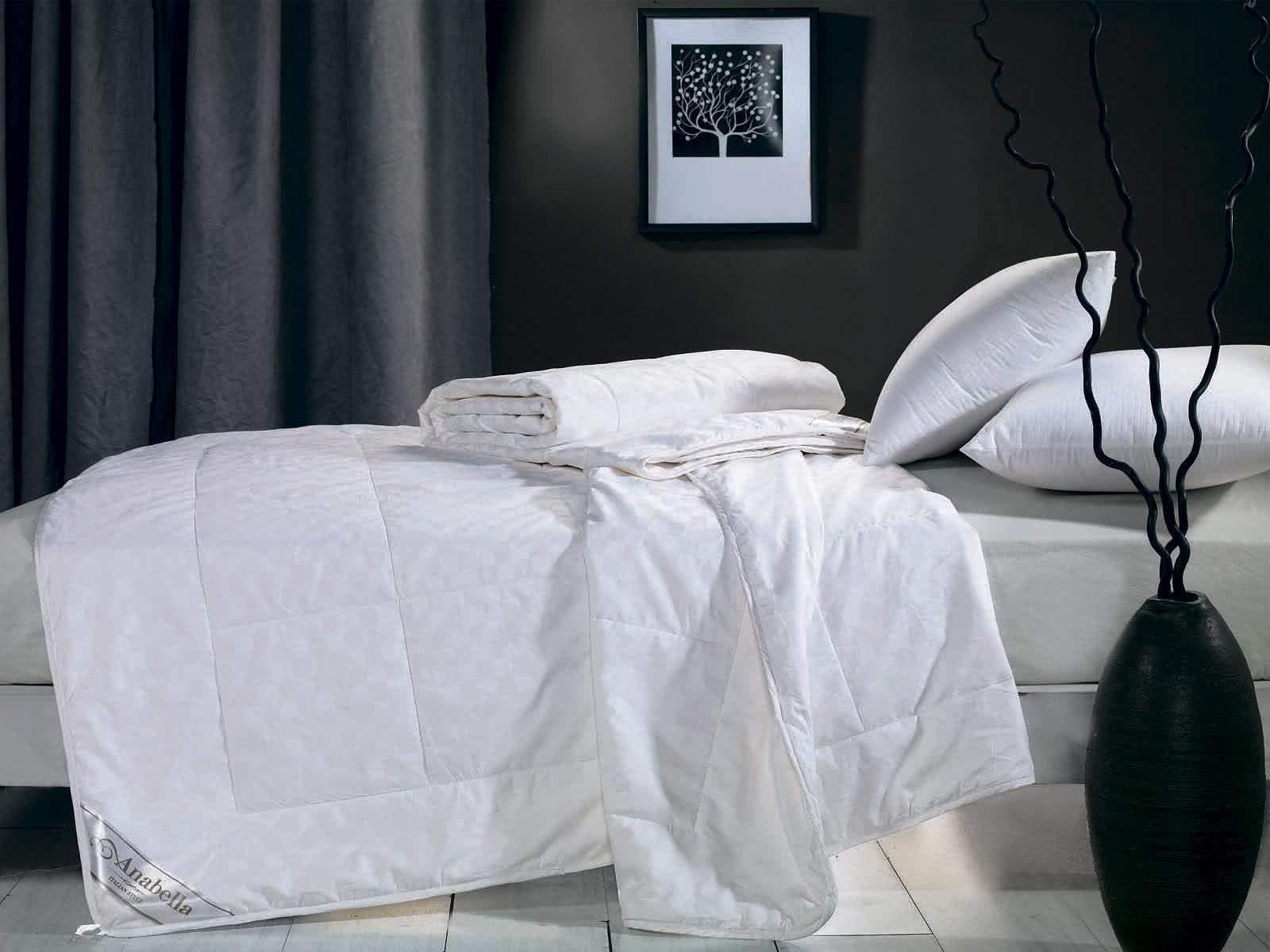 Шелковое одеяло Asabella в чехле из сатина - Detskoye-Postelnoe.Ru
