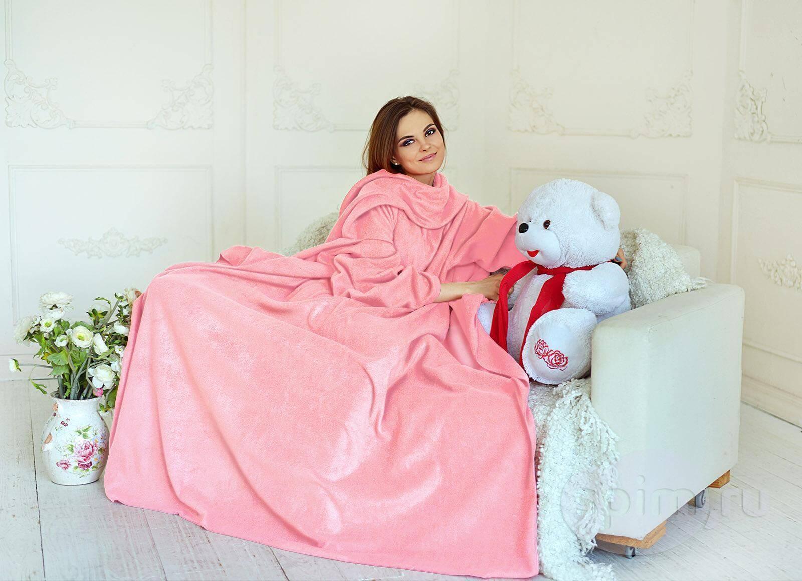 Плед с рукавами Sleepline, розовый