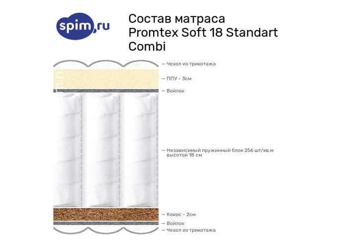 Схема состава матраса Промтекс-Ориент Soft 18 Стандарт Комби в разрезе