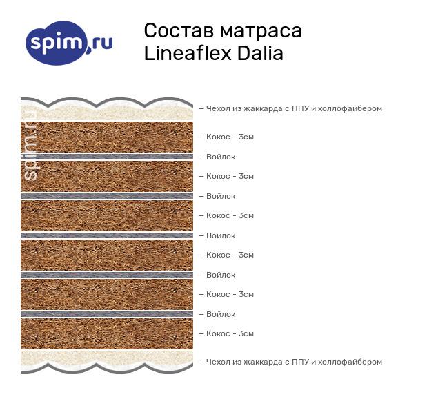 Схема состава матраса Lineaflex Dalia в разрезе