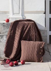Плед Luxberry Imperio 233, коричневая замша, 150х200 см