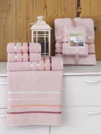 Набор махровых полотенец Karna Bale светло-розовый