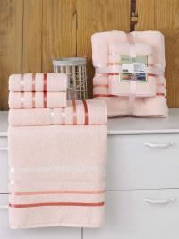 Набор махровых полотенец Karna Bale пудра
