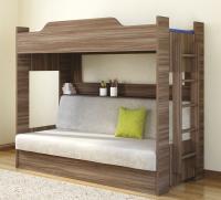 Кровать двухъярусная с диваном (2 кат) Боровичи