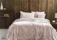 Покрывало Tivolyo Flavia, грязно-розовое