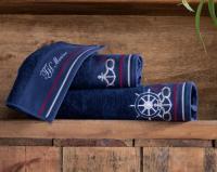 Набор из 3-х полотенец Tivolyo Navy с диффузором, синий