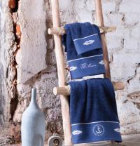 Набор из 3-х полотенец Tivolyo Anchor с диффузором, синий