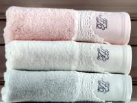 Полотенце Tivolyo Juliet 75х150 см, розовое