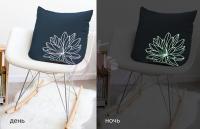 Декоративная подушка Primavelle Лилия, люминесцентная вышивка