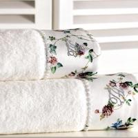 Набор из 2-х полотенец Tivolyo Roseland, кремовый
