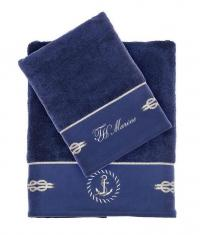 Набор из 2-х полотенец Tivolyo Anchor, синий