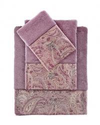 Набор из 3-х полотенец Tivolyo Etto, фиолетовый