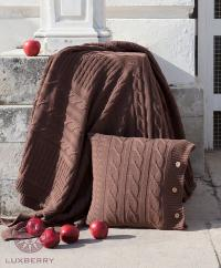 Плед Luxberry Imperio 233, коричневая замша, 220х240 см
