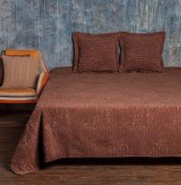 Покрывало Luxberry Velvet, коричневая замша