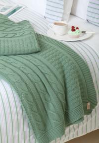 Плед Luxberry Imperio 233, зеленый бархат, 200х220 см