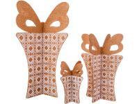 Набор декоративных изделий 3d Подарок с бантиком (3 шт.), арт. 749-116