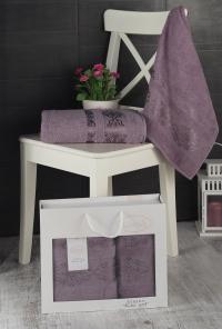 Набор махровых полотенец Karna Rebeka светло-лаванда