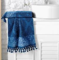 Полотенце Karna Ottoman 50x90, синий