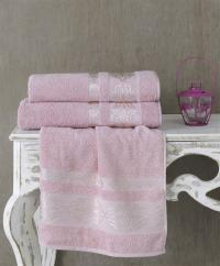 Полотенце Karna Rebeka 100x150, грязно-розовый