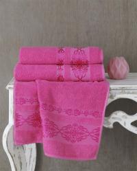Полотенце Karna Rebeka 100x150, розовый