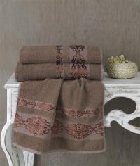 Полотенце Karna Rebeka 100x150, коричневый