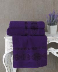 Полотенце Karna Rebeka 100x150, фиолетовый