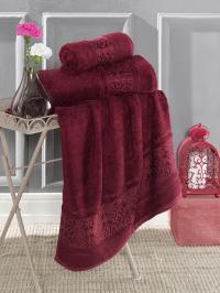 Полотенце Karna Armond 70x140, бордовый