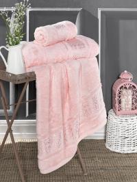 Полотенце Karna Armond 70x140, розовый