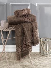 Полотенце Karna Armond 90x150, коричневый