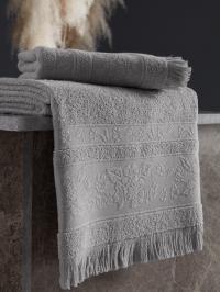 Полотенце Karna Lora 70x140, светло-серый
