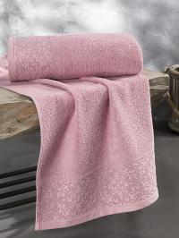 Полотенце Karna Melen 50x90, грязно-розовый