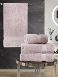 Набор махровых полотенец Karna 4 Arel грязно-розовый