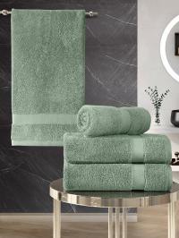 Набор махровых полотенец Karna 4 Arel зеленый
