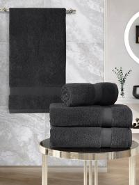 Набор махровых полотенец Karna 4 Arel темно-коричневый