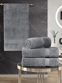 Набор махровых полотенец Karna 4 Arel серый