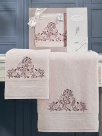 Набор махровых полотенец Karna Abel светло-розовый