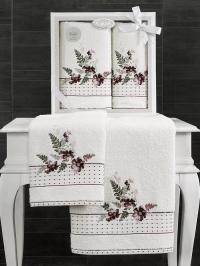 Набор махровых полотенец Karna Bondi V2
