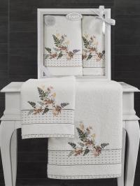 Набор махровых полотенец Karna Bondi V1