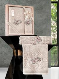 Набор махровых полотенец Karna Stella бежевый
