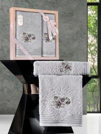 Набор махровых полотенец Karna Stella светло-серый