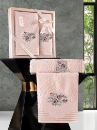 Набор махровых полотенец Karna Stella абрикосовый