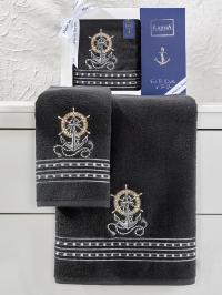 Набор махровых полотенец Karna Marin антрацит