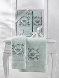Набор махровых полотенец Karna Maria ментол